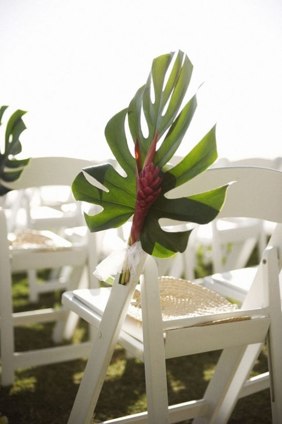 Beach Wedding Pew Marker