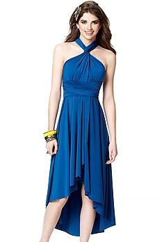 Blue Wrap Dress Bridesmaids