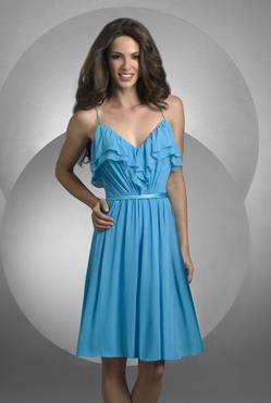 Double Ruffle Blue Dress