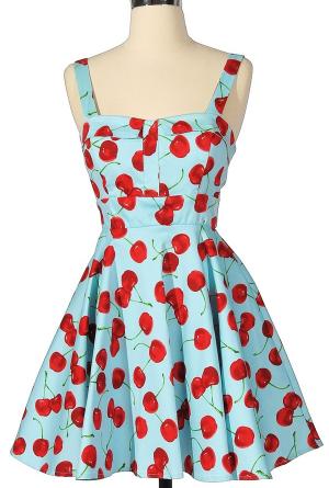 Cherry 50's Style Bridesmaids Dress