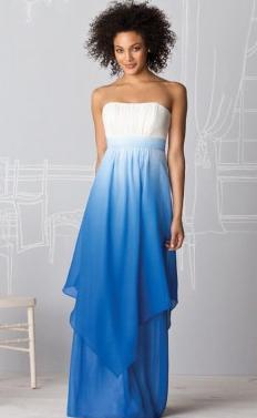 Two Tone Blue Bridesmaids dress