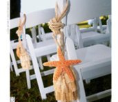 beach wedding pew markers