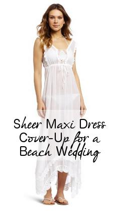 Sheer Maxi Dress for Beach Wedding Bikini
