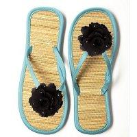 Glimmer Flower Flip Flop for Beach Bridesmaids