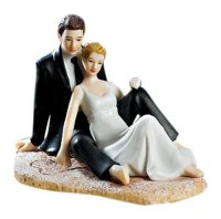 Lounging on the beach cake topper