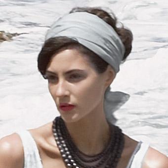 Beach Wedding Headscarf
