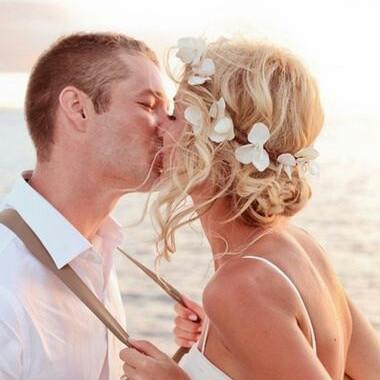 Romantic Flower Beach Wedding Headband