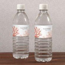 Beach Wedding Water Bottles