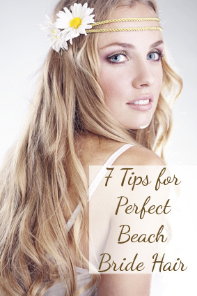 In Choosing A Beach Wedding Hairdo That Will Look Good After The Wind
