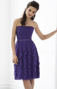After Six Bridesmaids Dress Purple