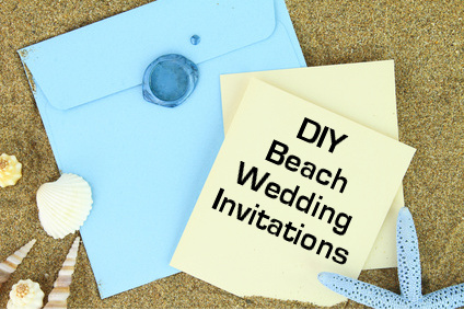 DIY Handmade Beach Wedding Invitations