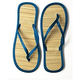 Satin and Bamboo flip flops