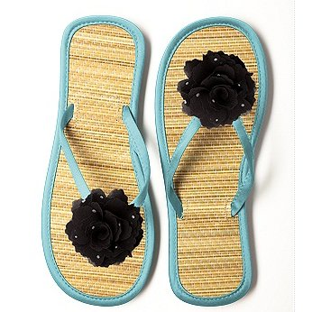 Glimmer Flower Flip Flop for Beach Bridesmaids