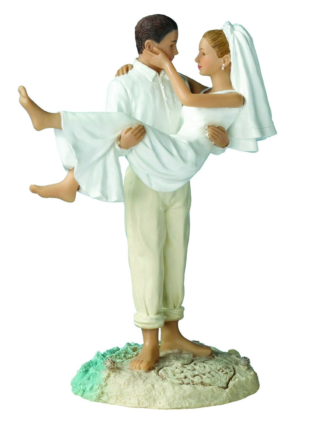 Just Married Beach Wedding Cake Topper