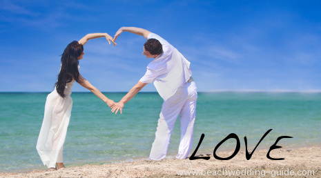 spelling out your love on the beach