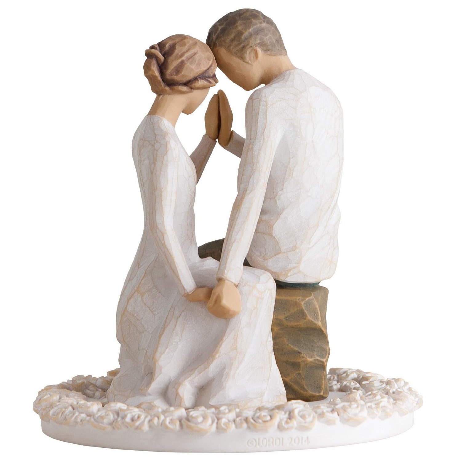 Willow Tree Beach Wedding Theme Cake Topper