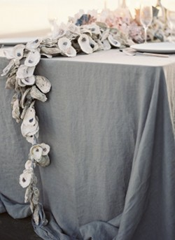 Oyster Shell Beach Wedding Centerpiece