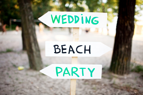 Beach Wedding Signage
