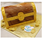 treasure chest wedding cake