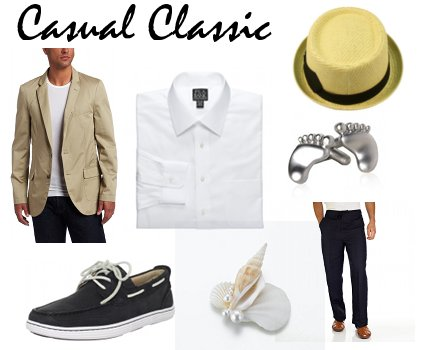 Casual Classic Beach Wedding Attire Groom