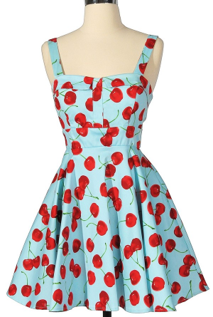 Cherry 50's Style Bridesmaids Dress