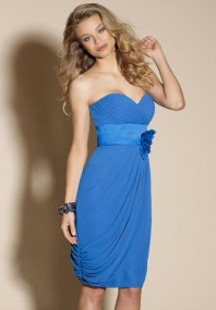 Draped Blue Bridesmaid