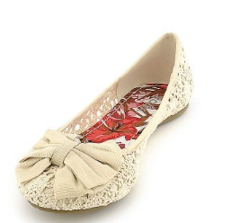 Flat beach wedding shoes