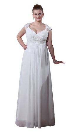 Plus size beach wedding gown