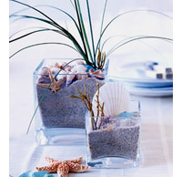 Simple beach centerpiece