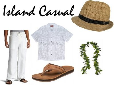 Tropical Mens Casual Beach Wedding Attire
