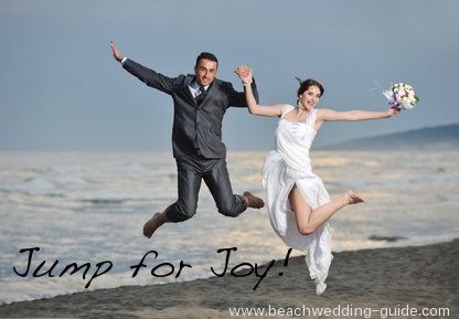 The jump wedding photo