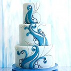 Wave Beach Wedding Cake