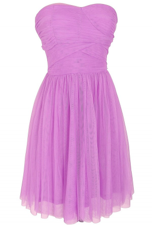 Purple Beach Bridesmaids Dress