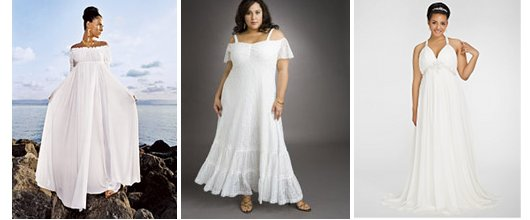 Full figured beach wedding dress