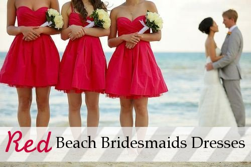 Red Dress Beach Wedding