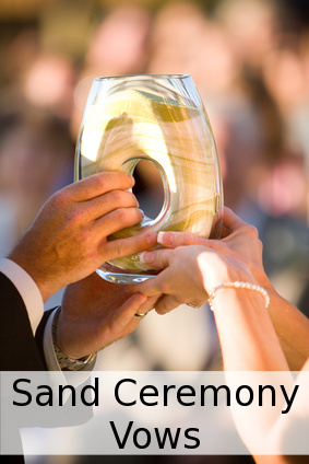 sand ceremony vows