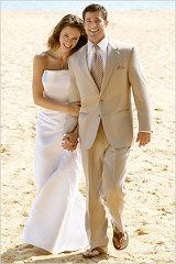 Semi-Formal Mens Beach Wedding Attir
