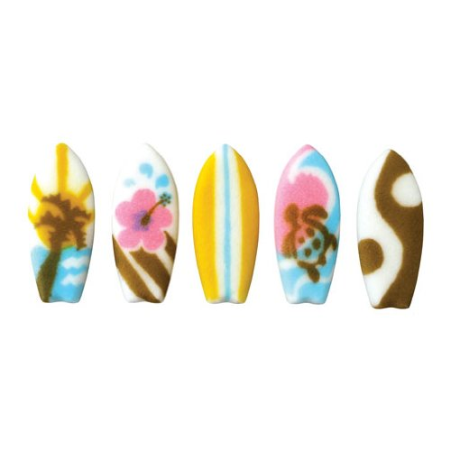 Sugar Surf Board Cupcake toppers