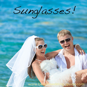 sunglasses beach wedding