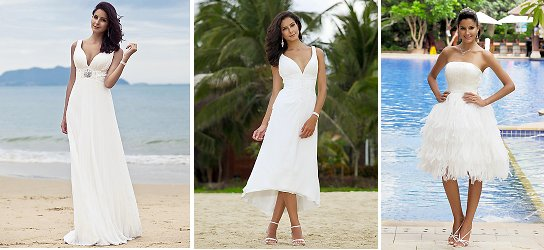 Beach Wedding Dresses for apple shaped figures
