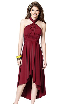 Red Wrap Dress Bridesmaid