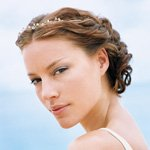 up-do for a beach wedding