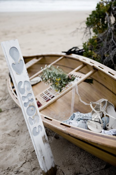 Beach Wedding Boat Decor
