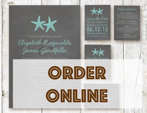 Order beach wedding invitations online