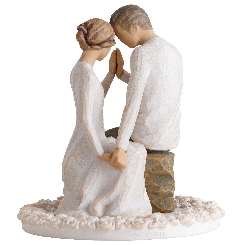 Willow Tree Beach Wedding Theme Cake Topper
