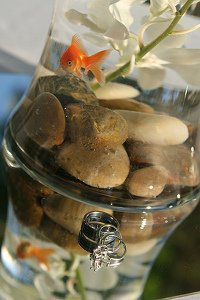 Beach wedding centerpieces for Fish centerpieces wedding receptions