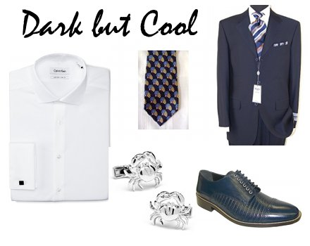 dark mens beach wedding attire