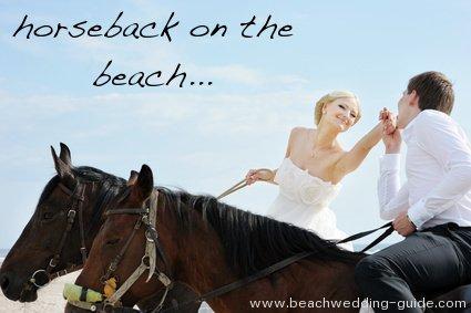 On horseback on the beach