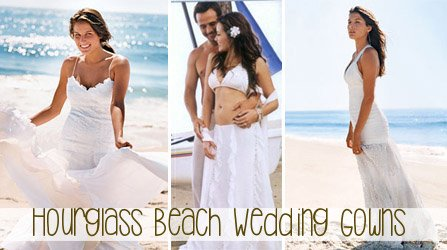 Hourglass Beach Wedding Gown