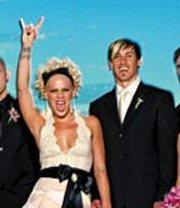 Pink and Carey Beach Wedding